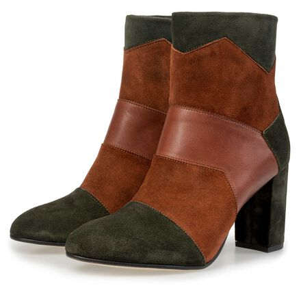 Floris van Bommel suede leather patchwork ankle boot