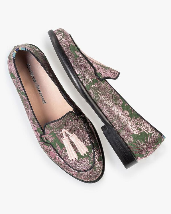 Loafer green with print
