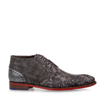 Lace boot nubuck leather taupe