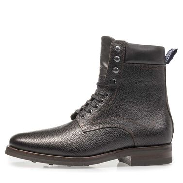 High leather lace boot