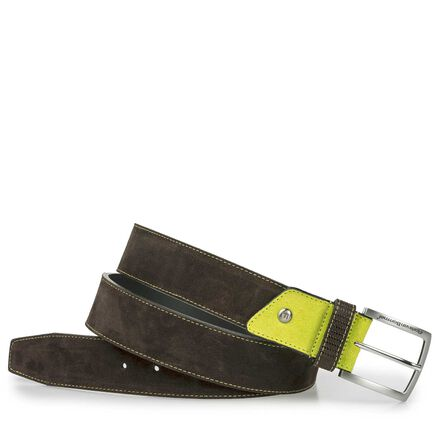 Suede leather belt