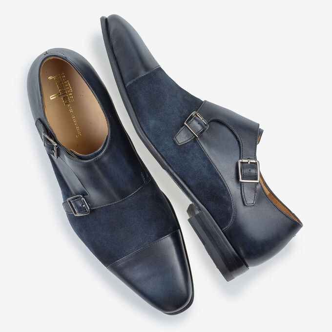 Double monk strap dark blue