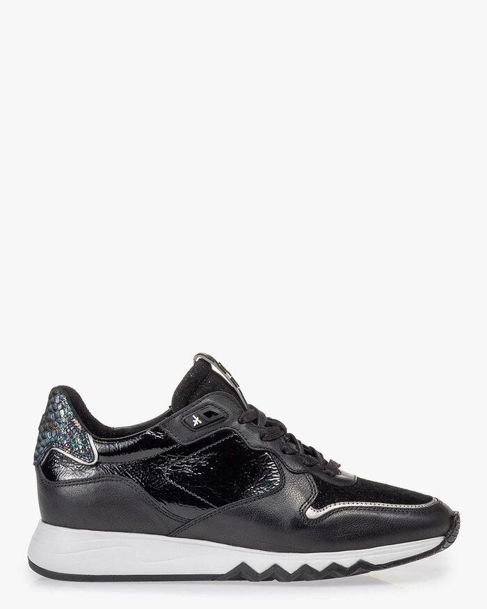 Nineti sneaker black leather