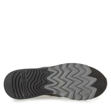 Premium printed metallic leather sneaker
