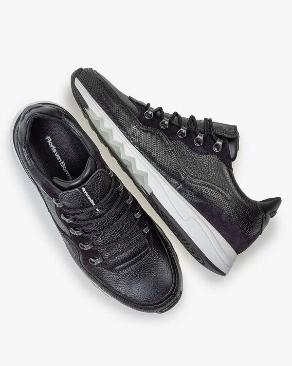 Sneaker leer zwart