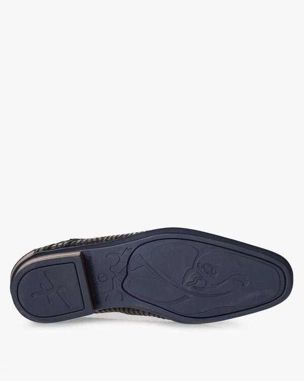 Lace boot nubuck leather black