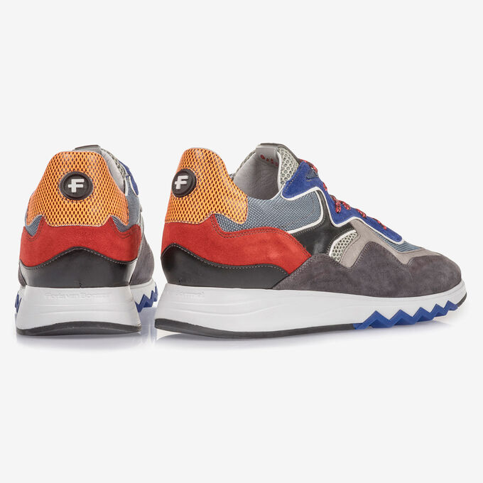 Multi-colour sneaker with blue details