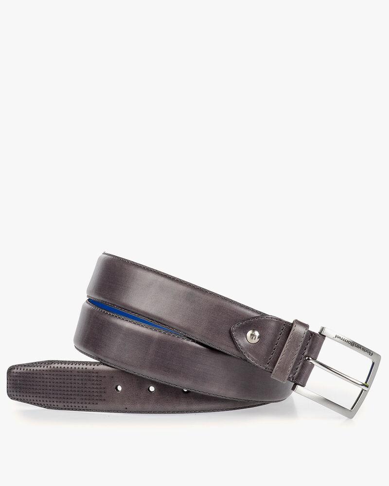 Grey calf's leather belt