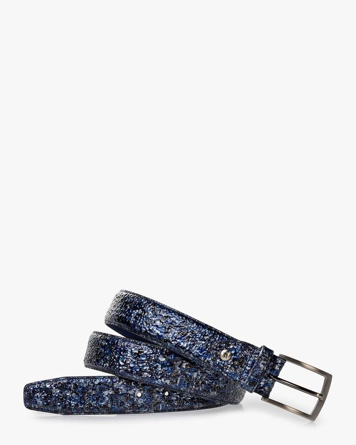 Belt metallic print dark blue