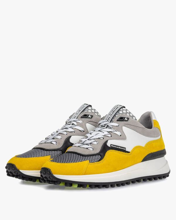 Noppi sneaker suede leather yellow