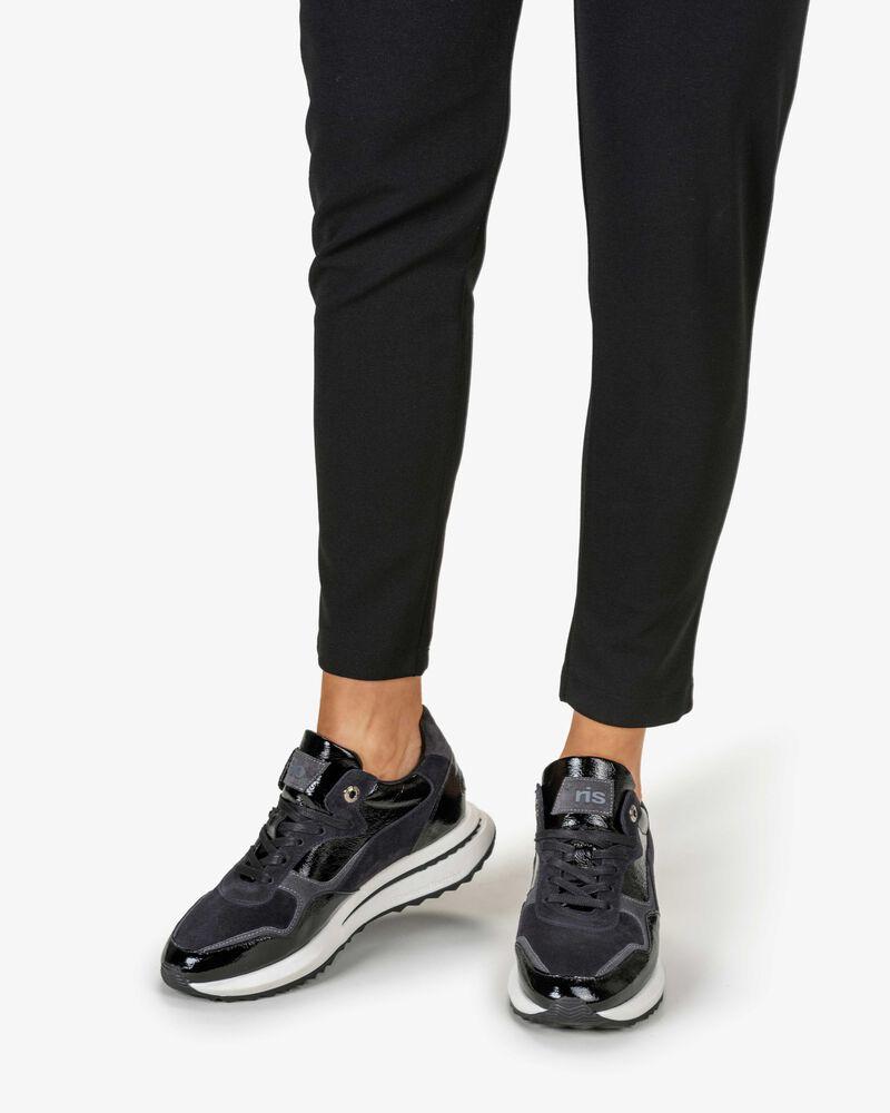 Sneaker lakleer zwart