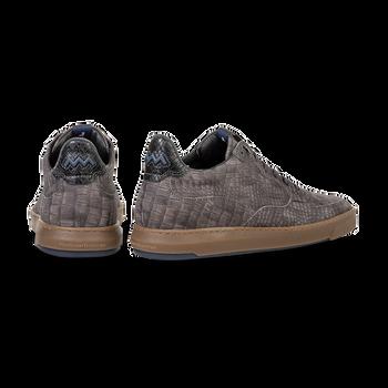 Sneaker reptile print taupe