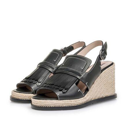 Espadrille wedge-heel sandal
