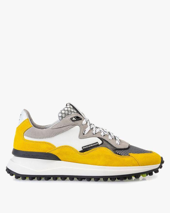Noppi sneaker suède geel