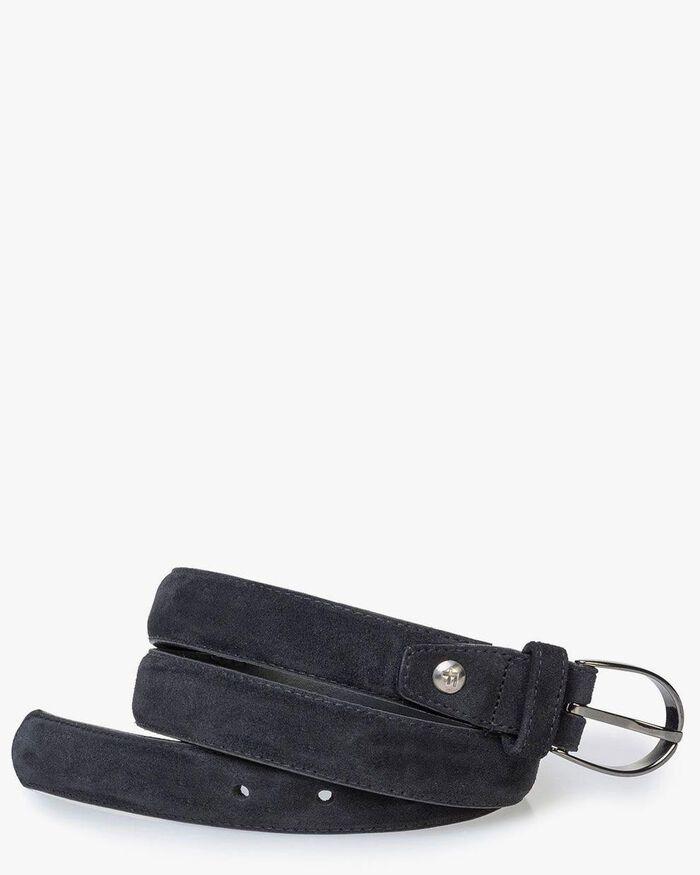 Black suede leather belt