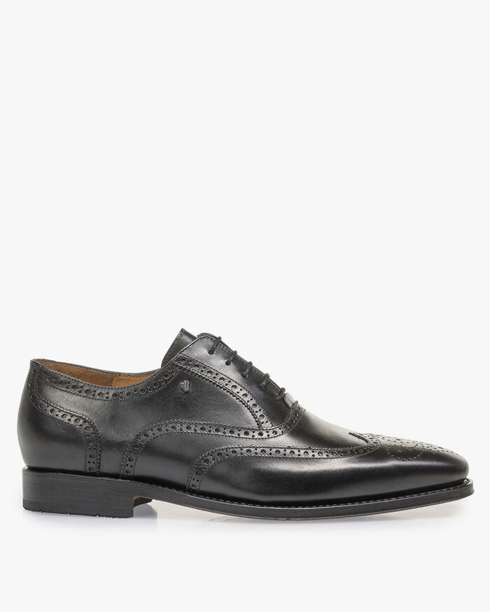 Black calf leather brogue