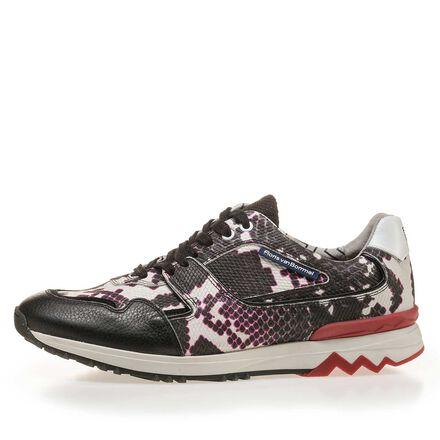Premium sneaker met snakeprint