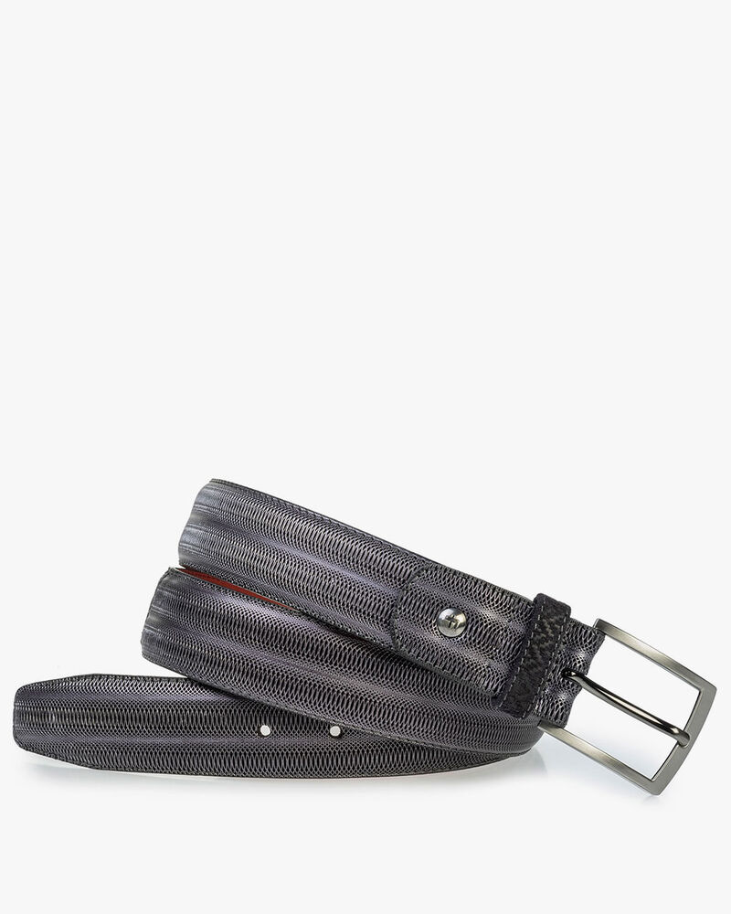 Belt metallic black
