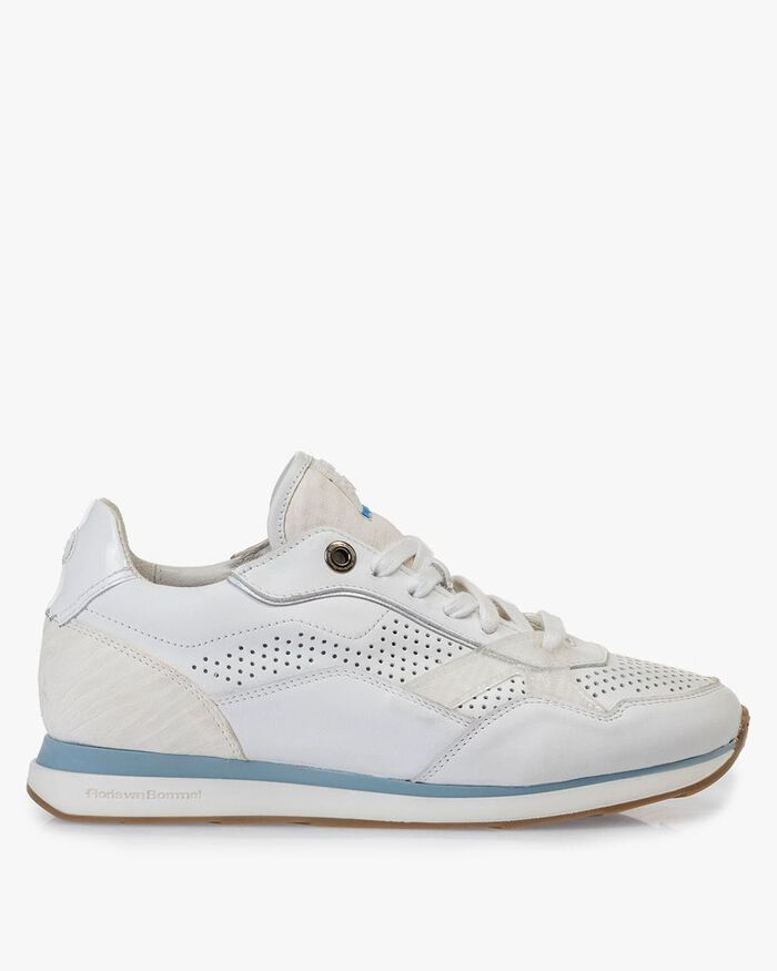 Sneaker white calf leather