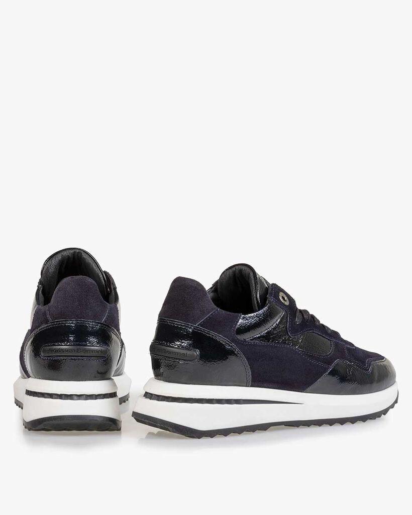 Sneaker lakleer blauw