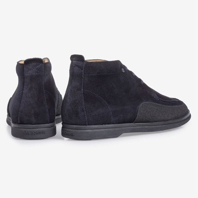 Mid-high suede leather lace boot