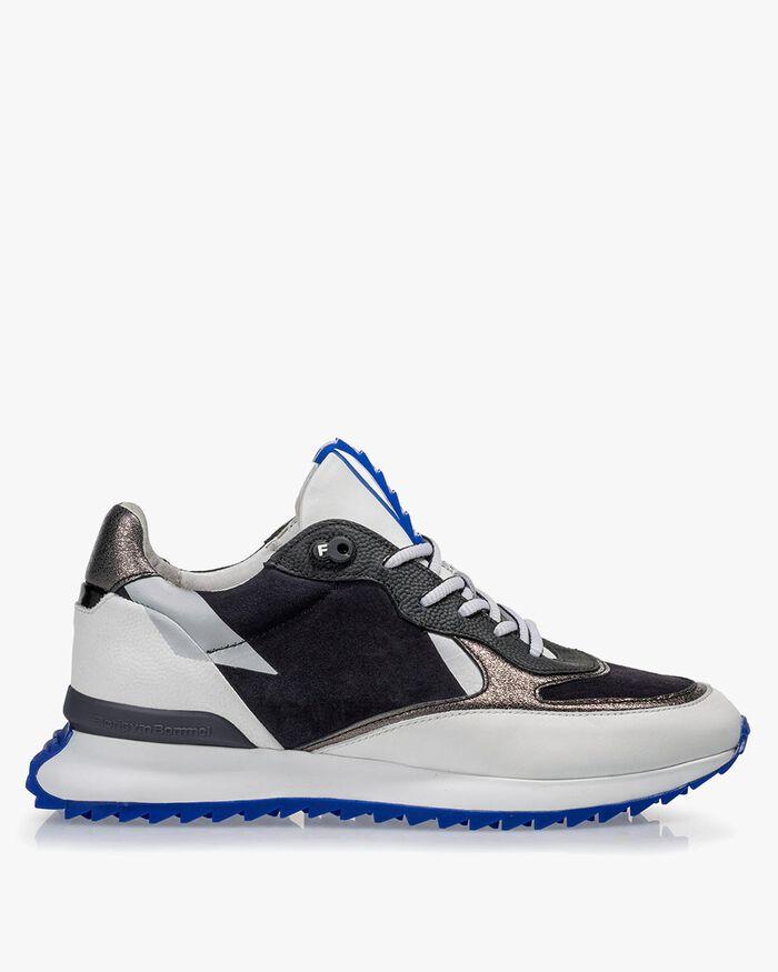 Sneaker calf leather white