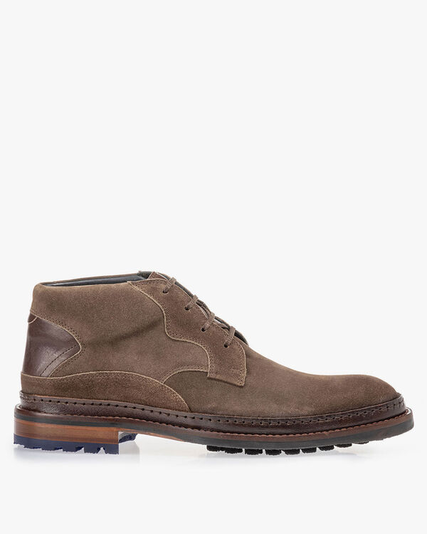 Veterboot suède donker taupe