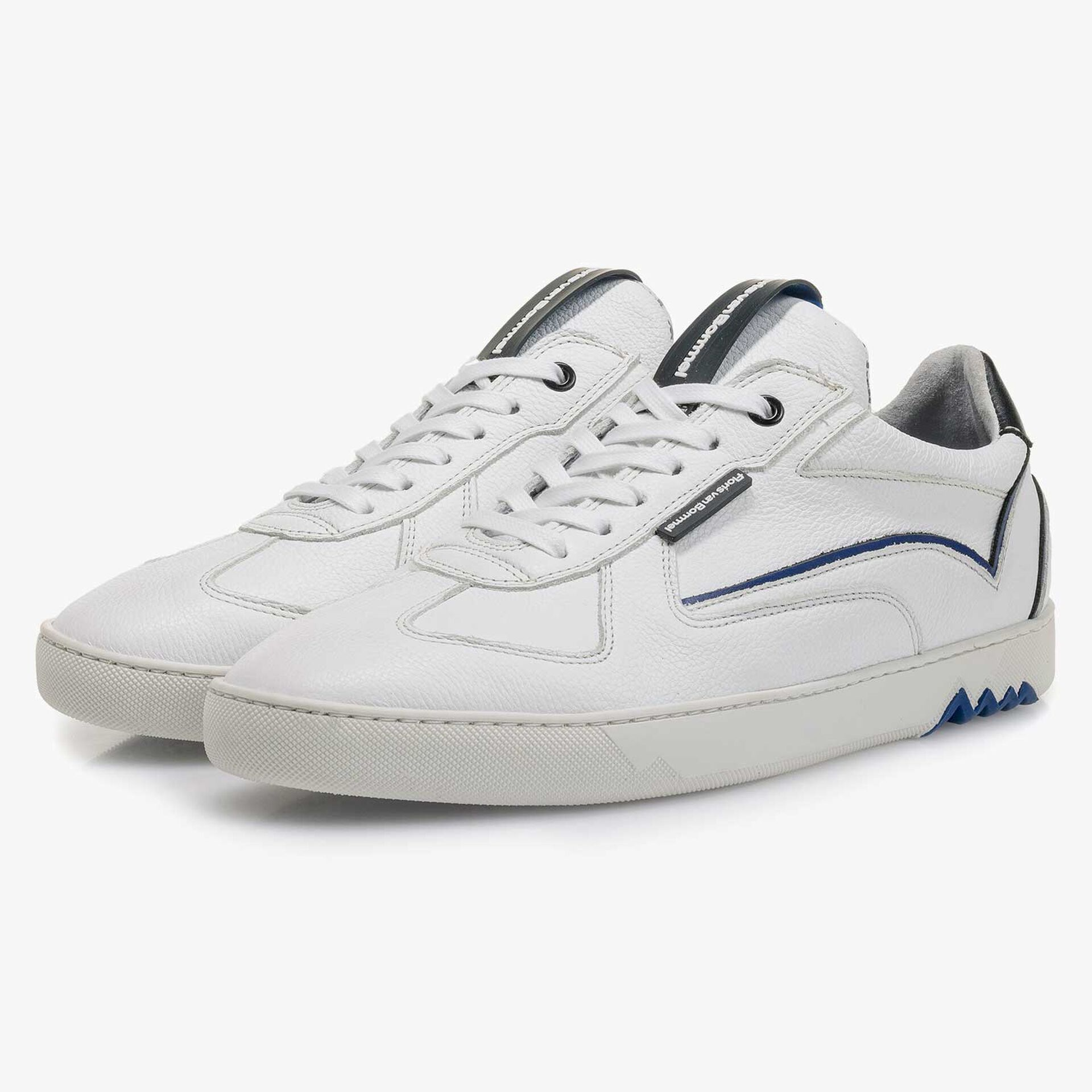 White calf leather sneaker