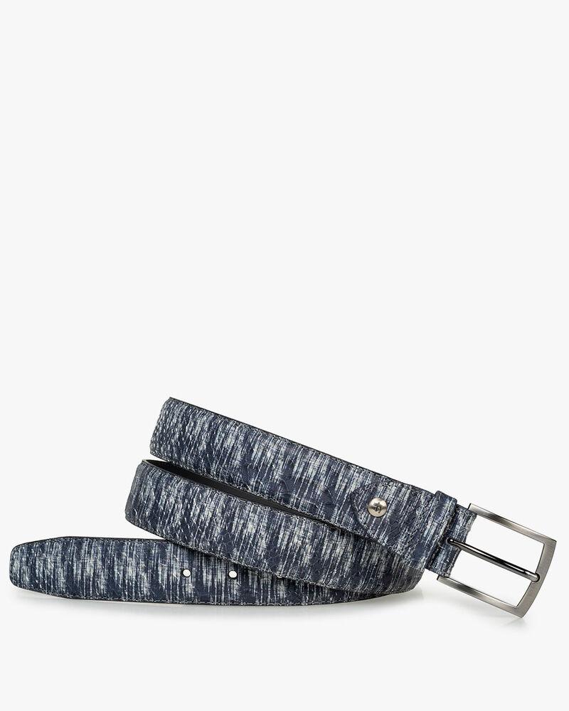 Belt nubuck leather black/white