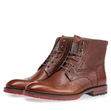 Leren brogue veterboot