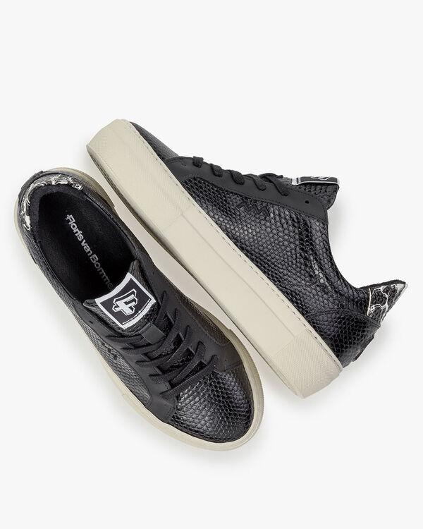 Sneaker kalfsleer zwart