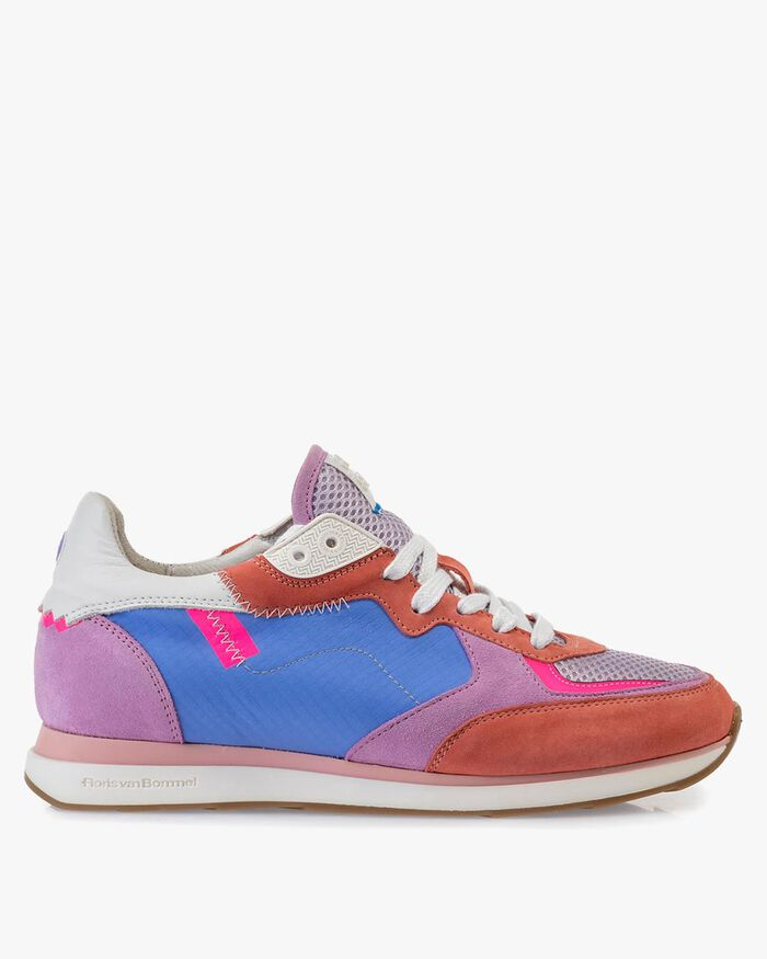 Sneaker nubuck leather multi-colour