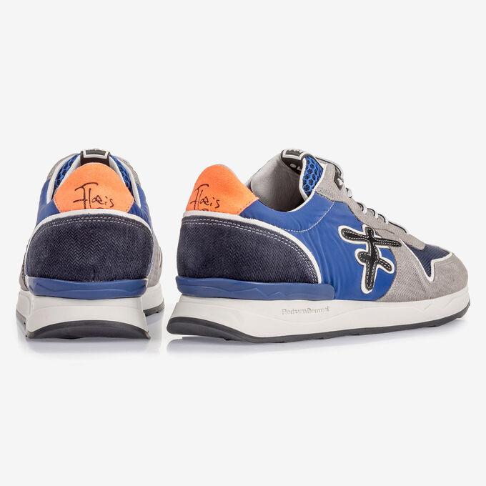 Grijs/blauwe suède sneaker