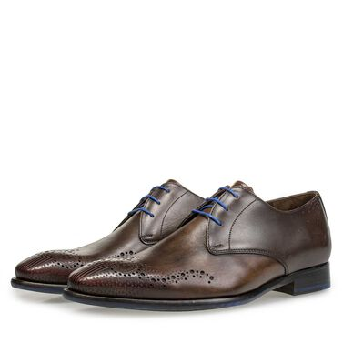 Brogue veterschoen van leer