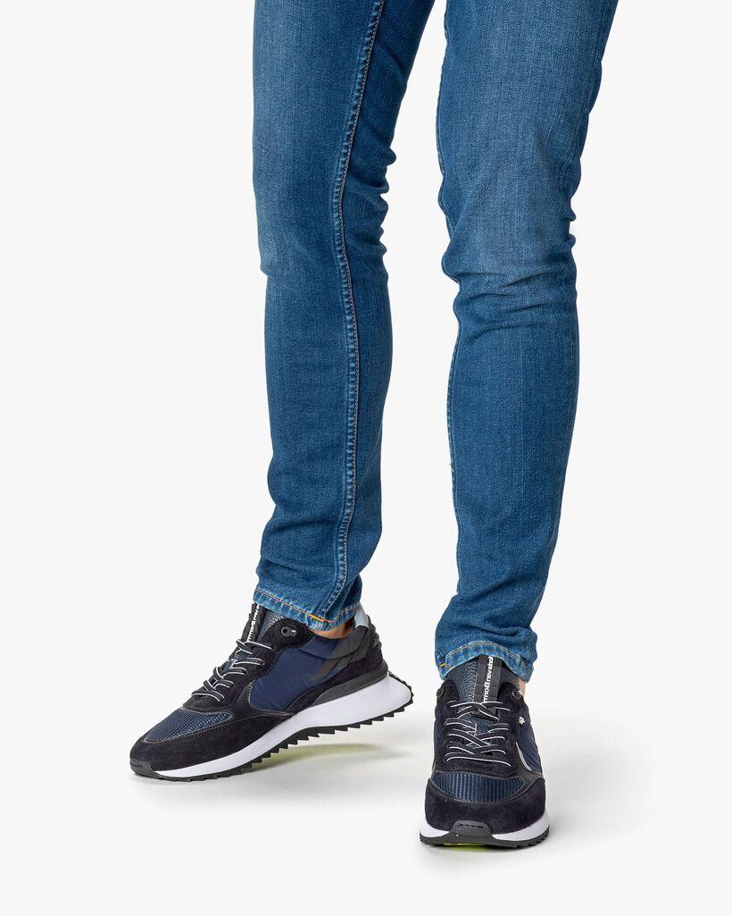 Sharki sneaker suède donkerblauw