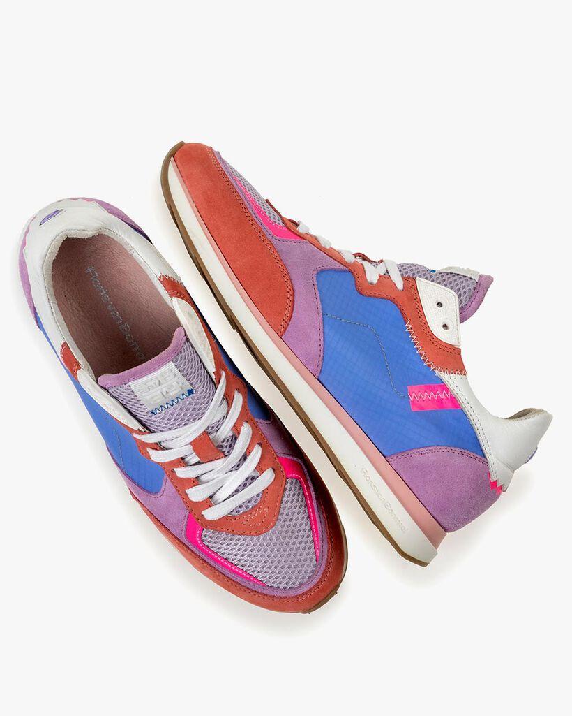 Sneaker nubuck leather multi-colour