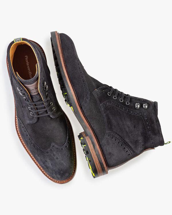 Boot zwart suède