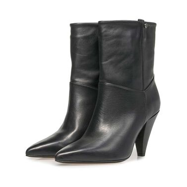 Nappa leather high boots