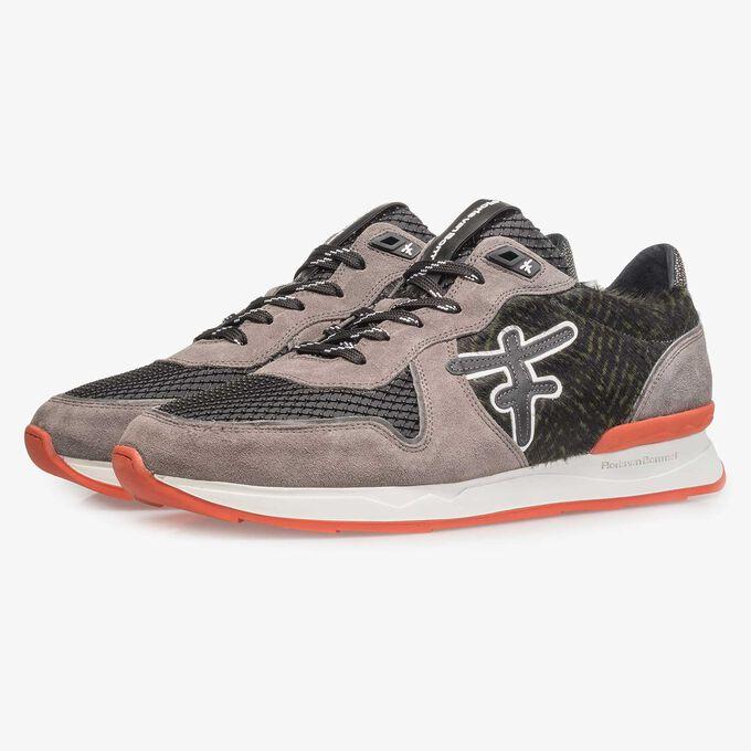 Premium grijze suède sneaker