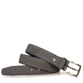 Belt nubuck leather grey