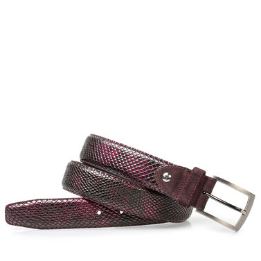 Printed patent leather belt