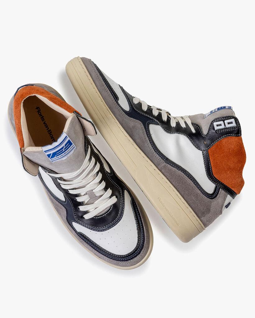 Sneaker suède oranje