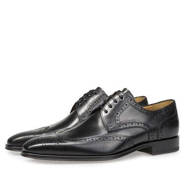 Brogue leren veterschoen