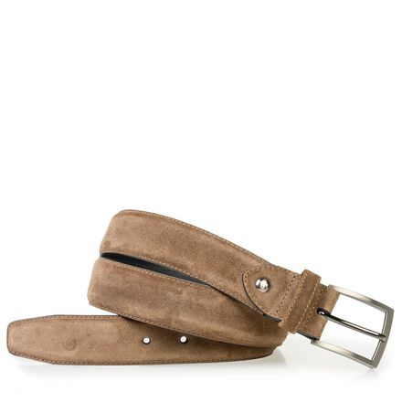 Calf leather belt with a print