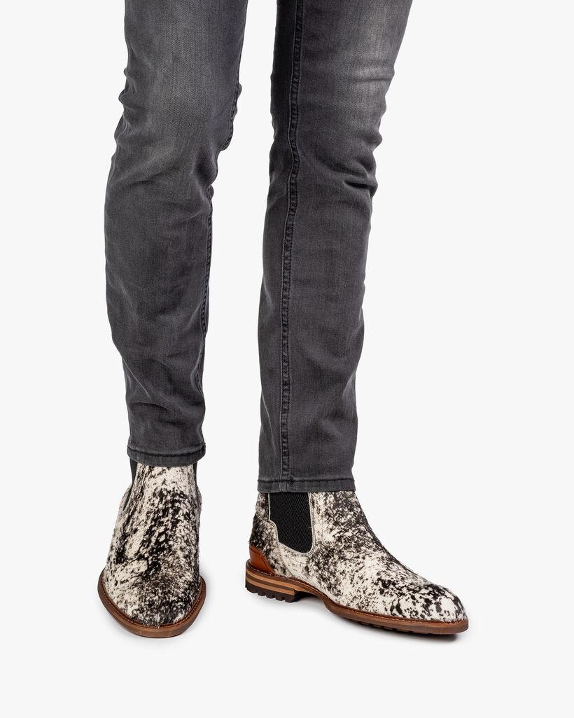 Chelsea boot pony off-white