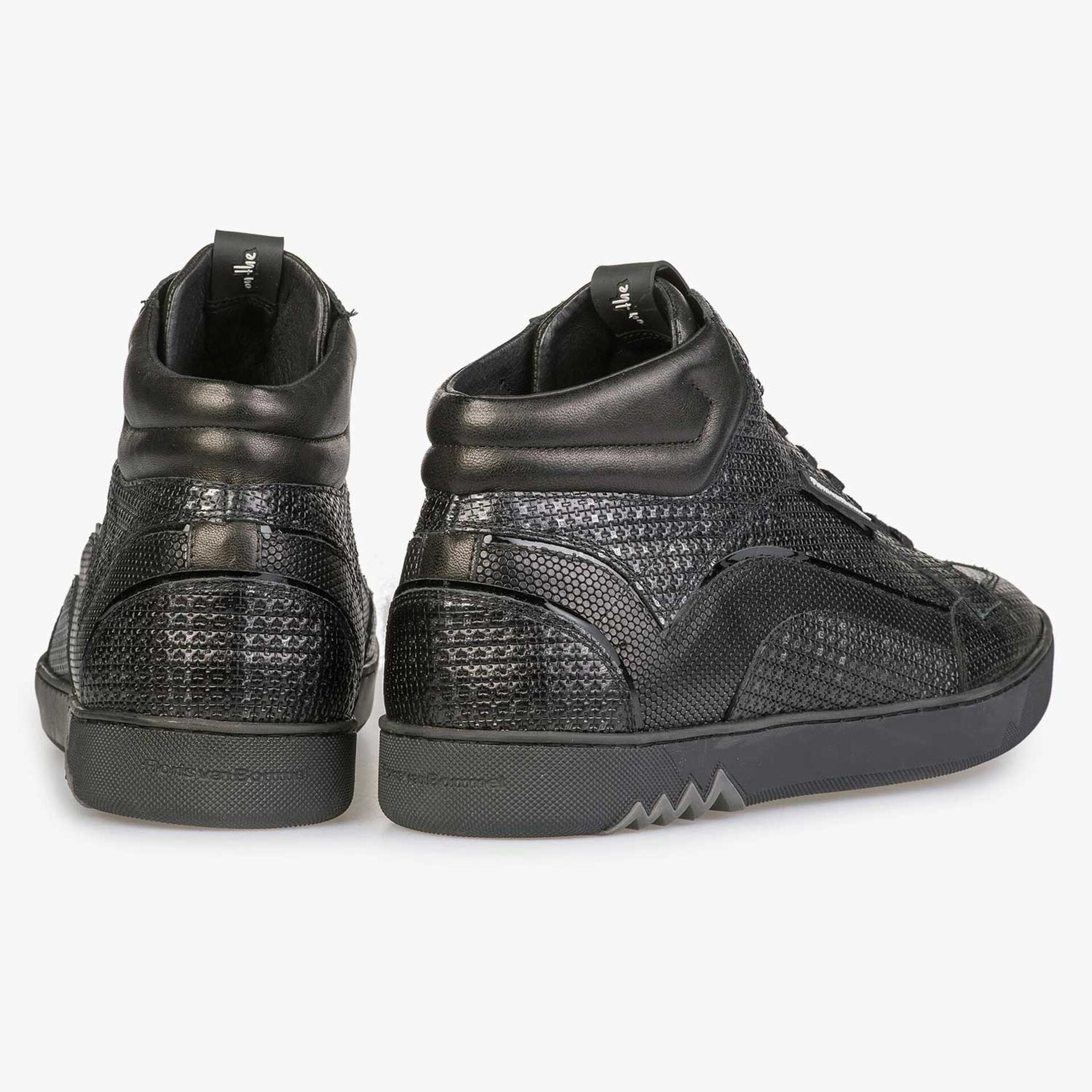 Halfhoge zilveren sneaker