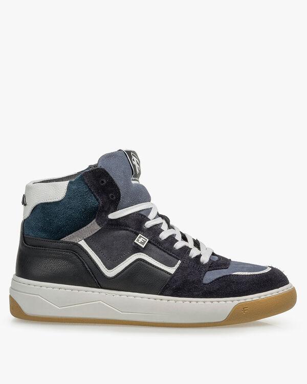 Sneaker suède donkergrijs