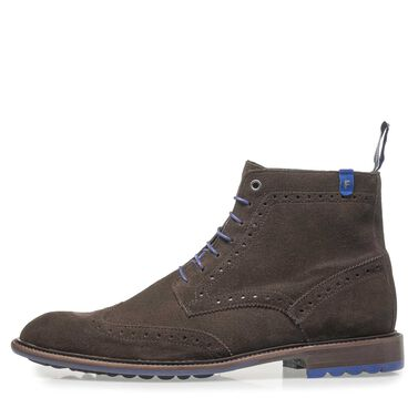 Brogue lace boot