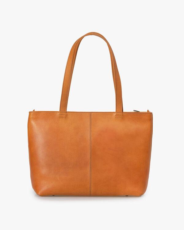Shoulder bag calf leather natural-coloured