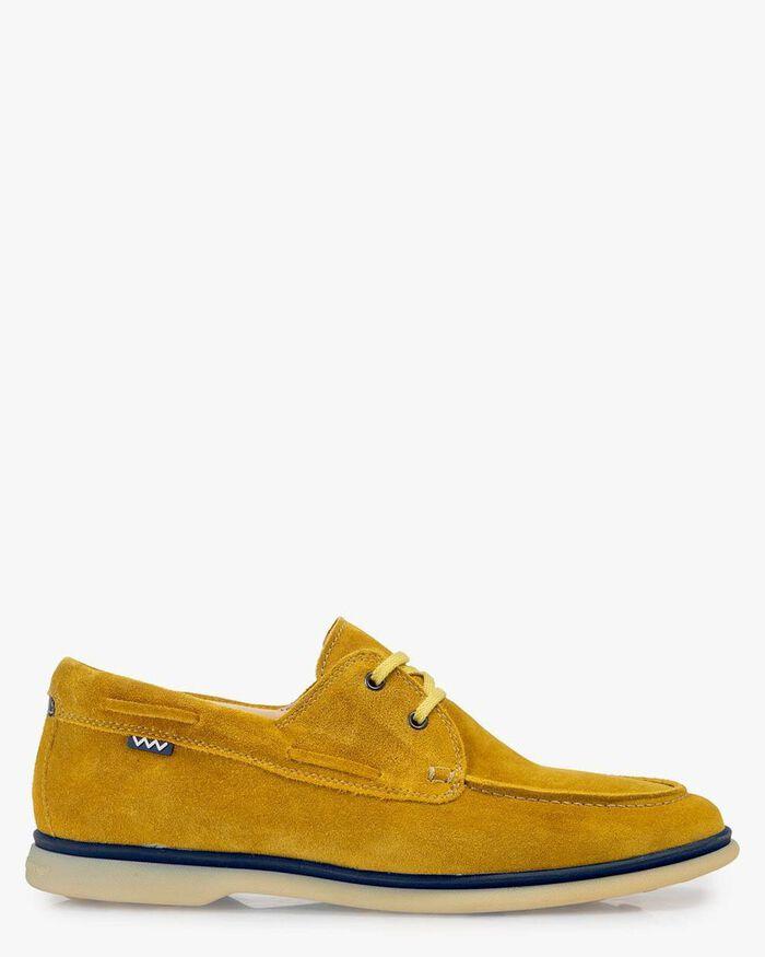 Bootschoen suède geel